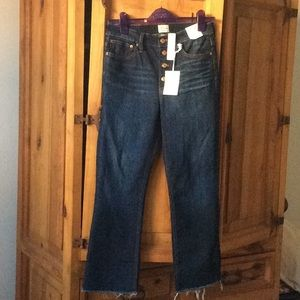 NWT J Crew Billie Boot Crop Jeans